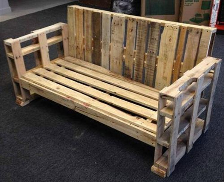 Wooden pallet bench plans recycled things - Diy projects with wooden palletsideas easy to carry out ...