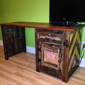 DIY Pallet Wood Computer Desk
