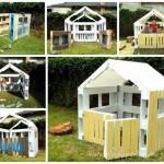 Wooden Pallet Kids Playhouse Plans