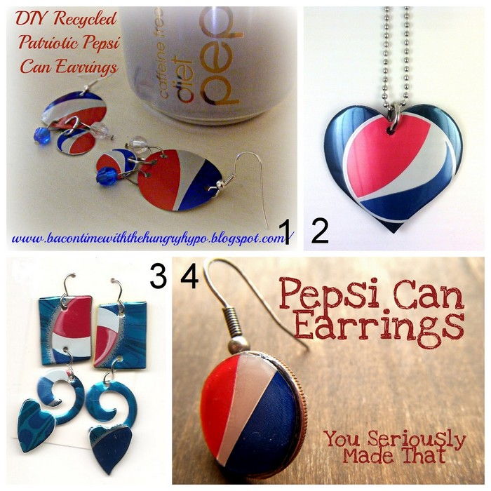 DIY Recycled Pepsi Can Earring