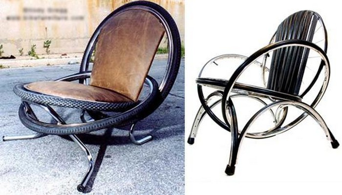 DIY Recycled Tires Chairs