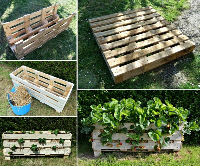 Diy recycled pallet planters recycled things for Recycle pallets as garden planters