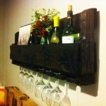 Pallet Wine Racks with Glass Holder