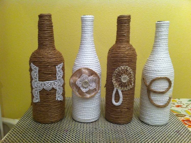 Decorate A Glass Bottle Amusing Diy Decorations From Reuse Glass Bottles  Recycled Things Inspiration