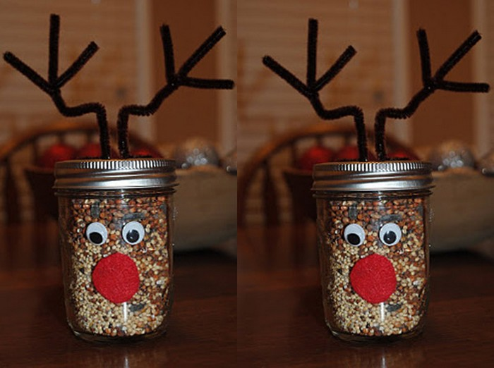 Mason Jars Reindeer for Home Decor
