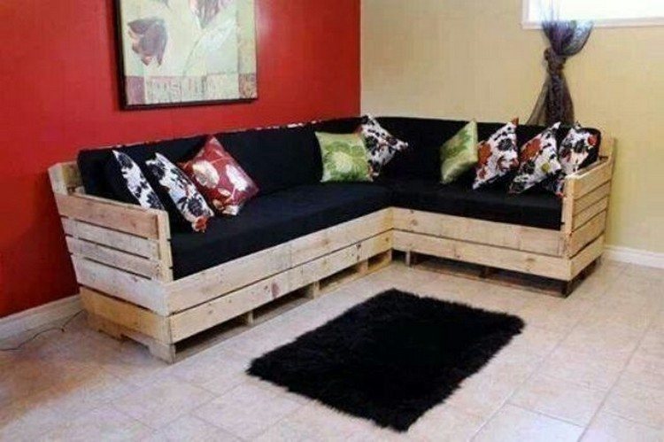 Wooden pallet sofa designs recycled things - Wooden corner sofa designs ...