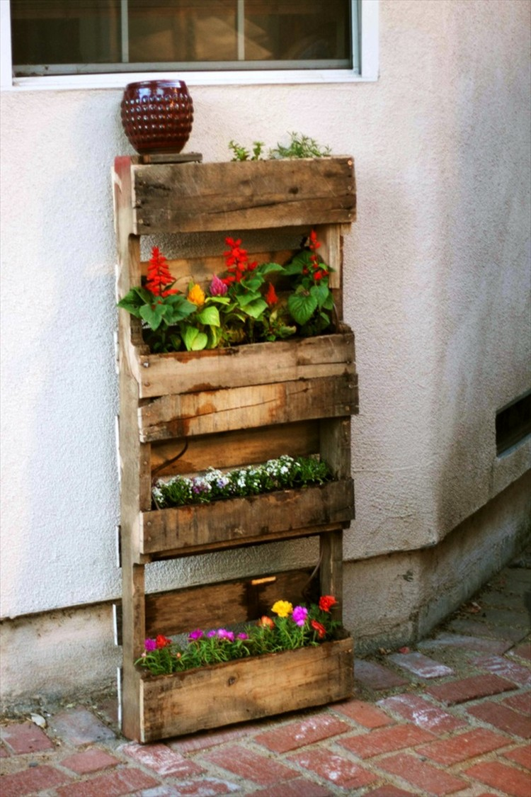 Recycled pallet gardening ideas recycled things for Pallet ideas
