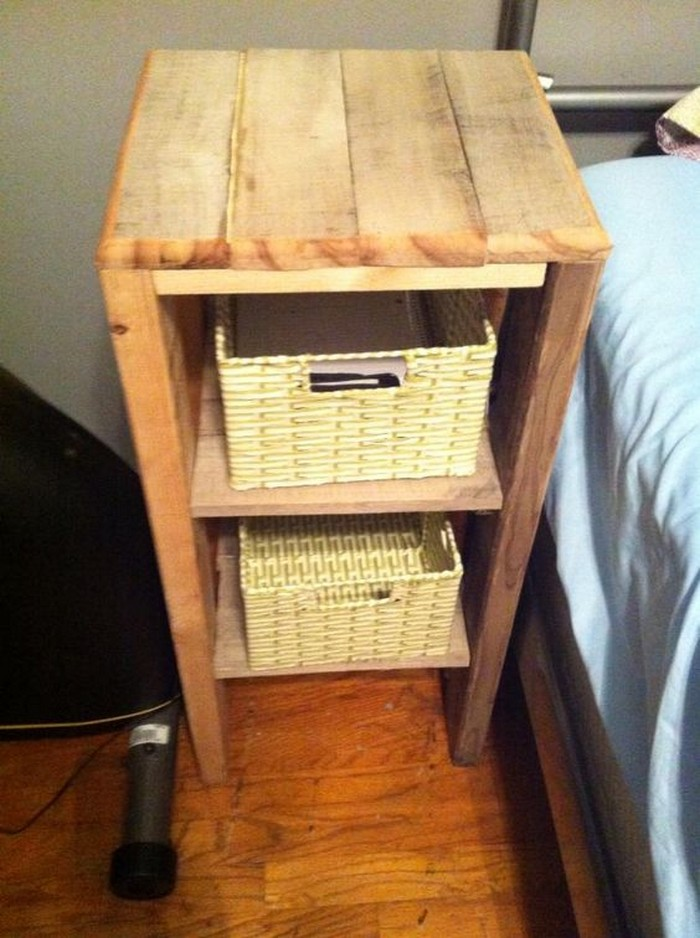 Pallet Nightstand Idea