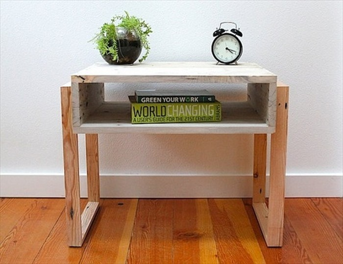 Pallet Nightstand for Multi Purpose