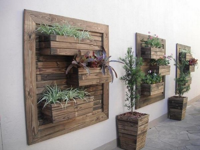 Pallet Verticle Wall Planters