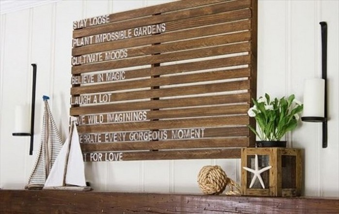Wood Pallet Wall Art diy wooden pallet wall decor | recycled things