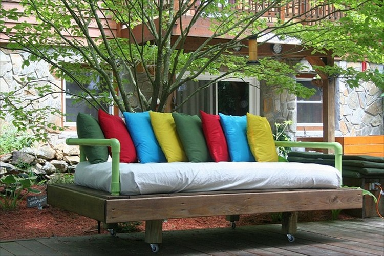 Pallet Wooden Outdoor Daybed