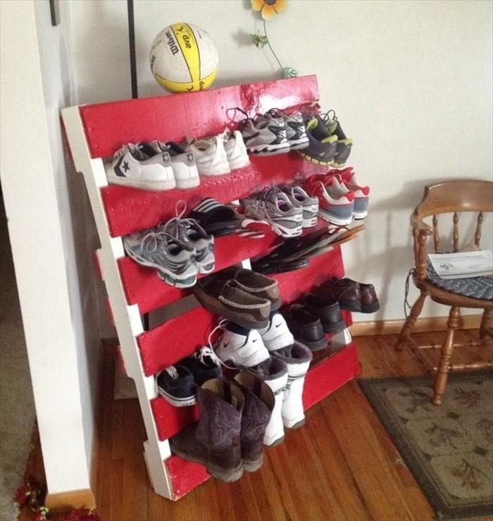 Pallet Wooden Shoes Rack
