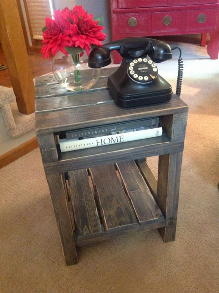 Recycled Wooden Pallet End Tables Recycled Things