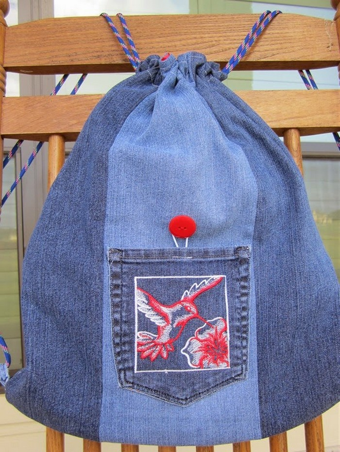 Recycled Denim Backpack