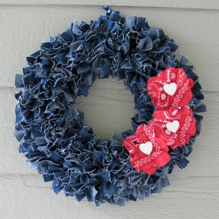 Recycled Denim Wreath