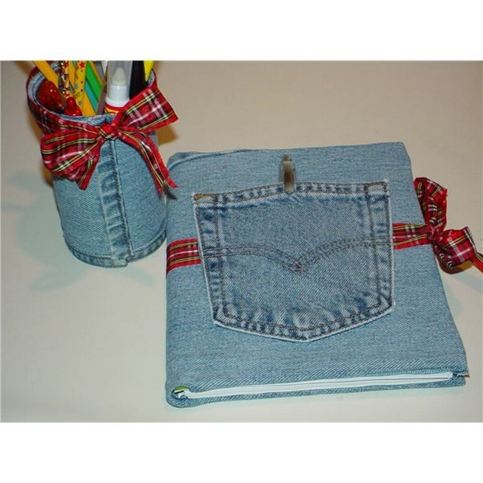 Creative things to do with old jeans recycled things for Homemade items from waste materials