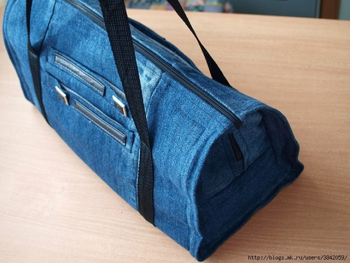 Recycled Jeans Gym Bag