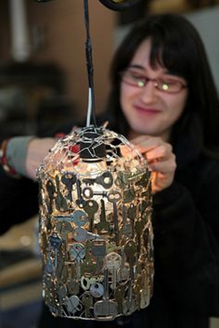 Recycled Key Lamp