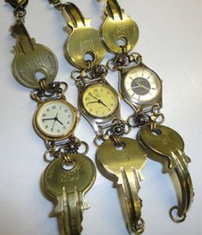 Recycled Key Watch