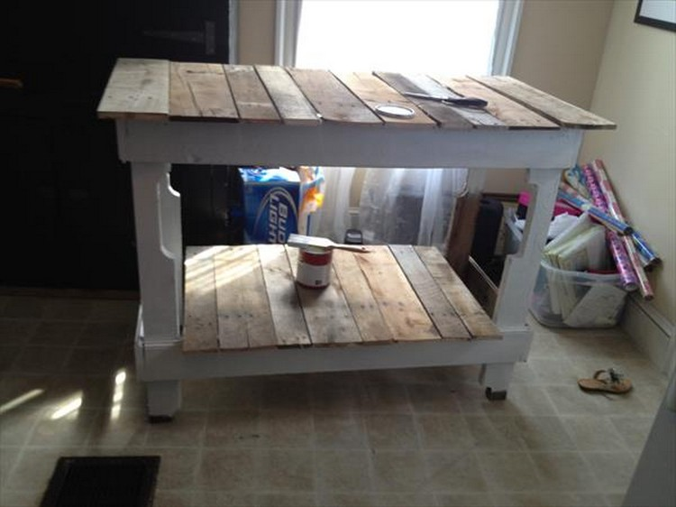 Kitchen Island Out Of Pallets pallet projects for kitchen | recycled things