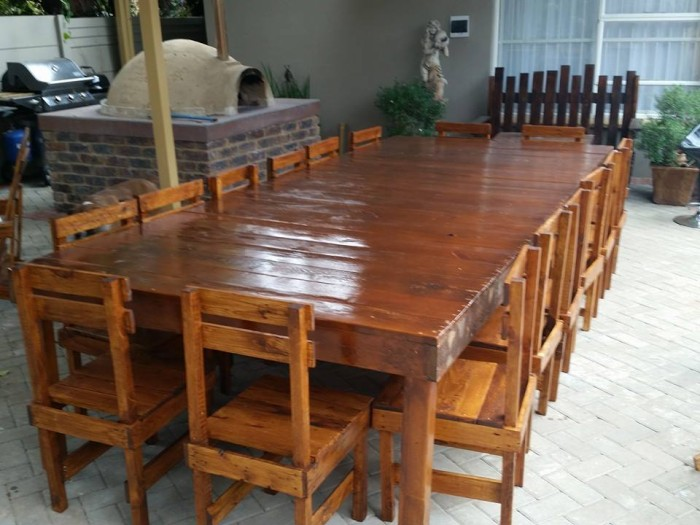 Recycled Pallet Sixsteen Seater Dining Table