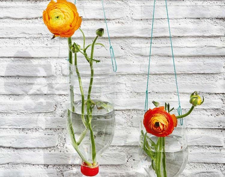 Recycled Plastic Bottles Hanging Flower Vase