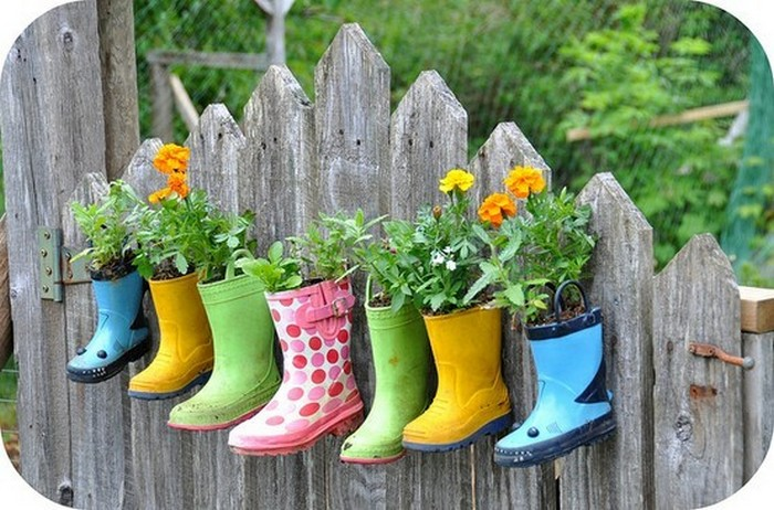 Recycled Shoes Planter Hanging
