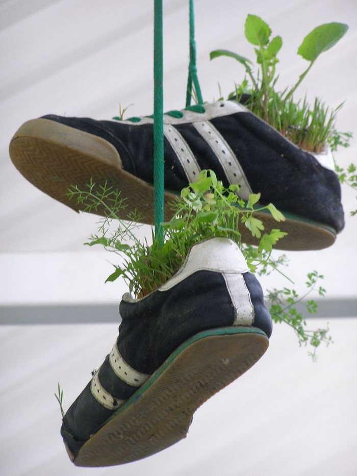 Ways To Recycle Shoes For Planters Recycled Crafts