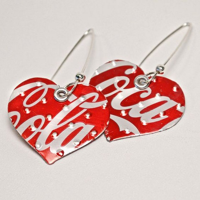 Recycled Tin Can Earrings
