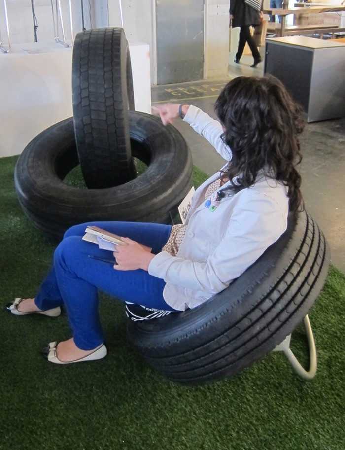 Diy furniture from recycled automotive tires recycled things for How to make tire furniture
