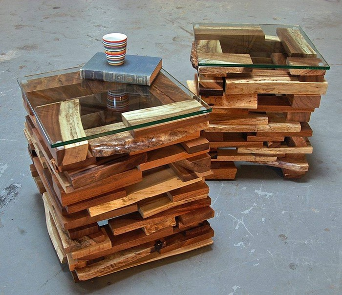 Recycled wooden pallet end tables recycled things for Pallet end table