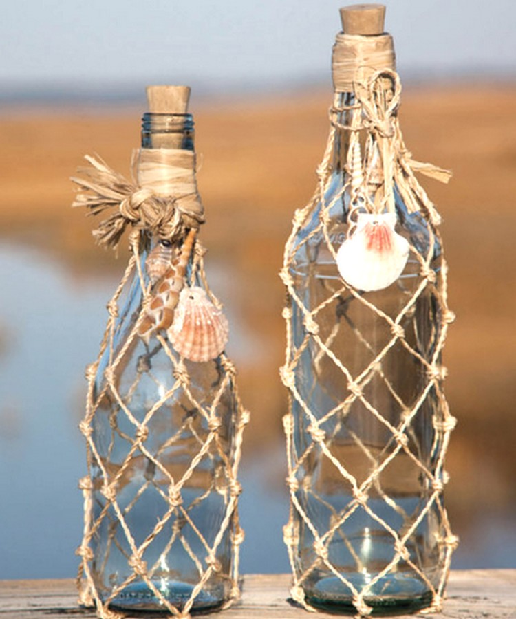 Upcycled Glass Bottles Decor