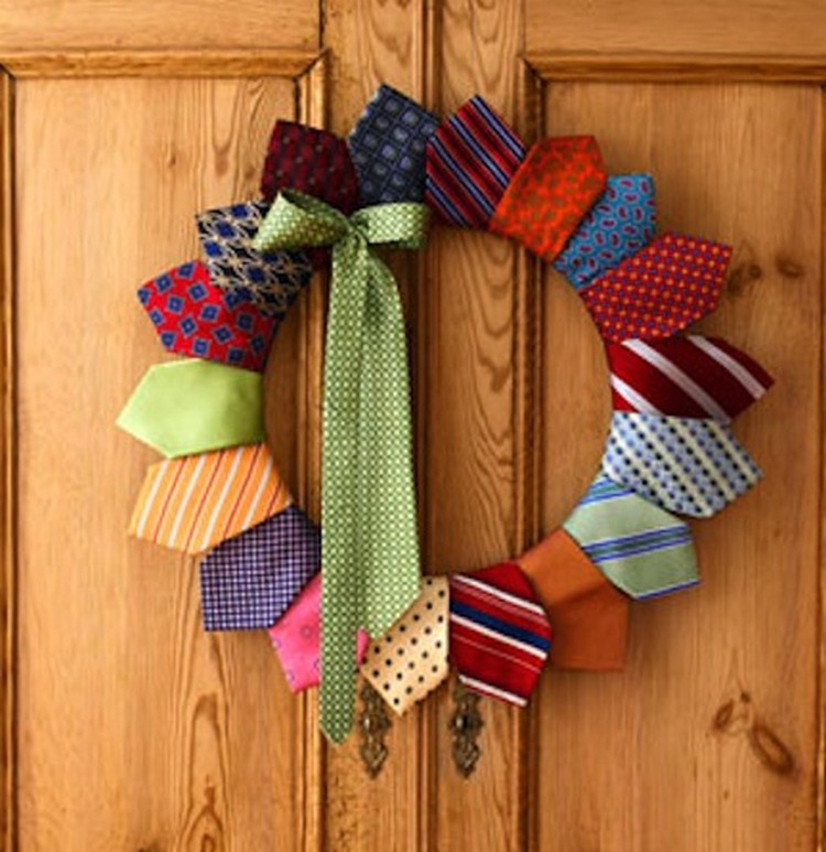 Upcycled Neck Tie Wreath