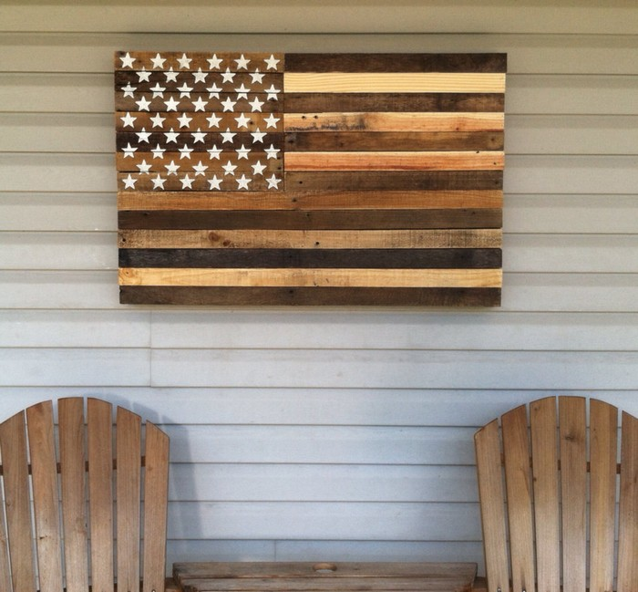 Upcycled Pallet Flag for Wall Decor ...