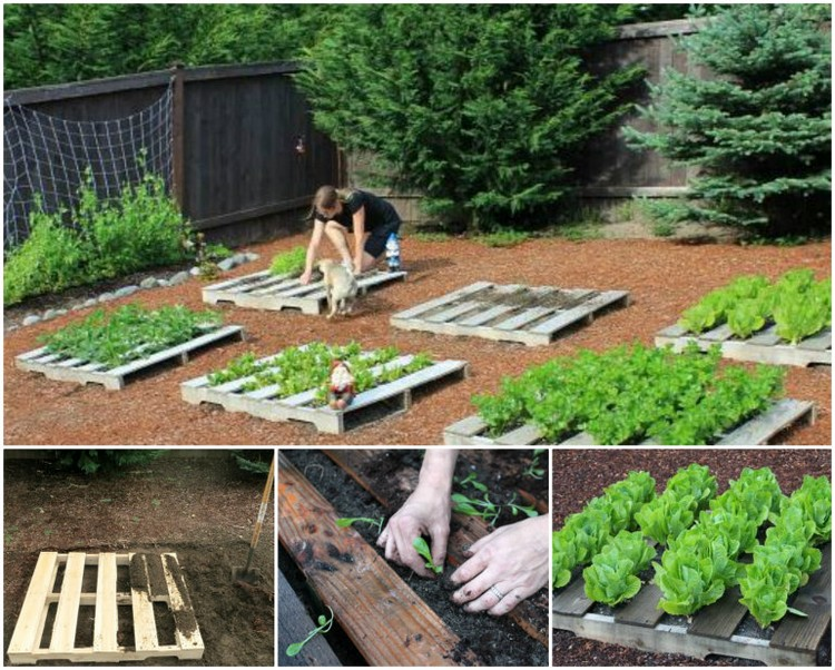 upcycled pallet garden planters wooden pallets gardening idea - Garden Ideas With Pallets