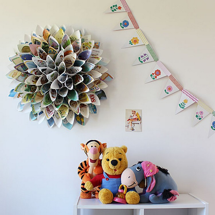 Wall Decor Ideas Using Paper : Diy upcycled paper wall decor ideas recycled things