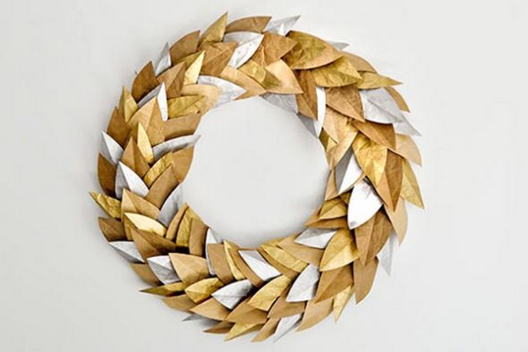 Upcycled Paper Wreath