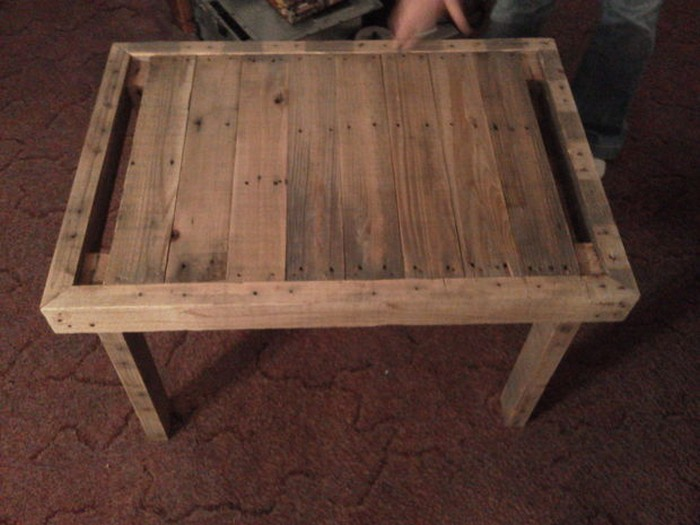 Upcycled Wooden Pallet End Table