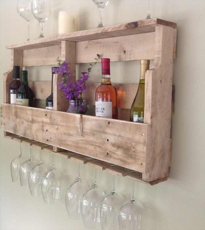 Wine Rack Made from Pallet