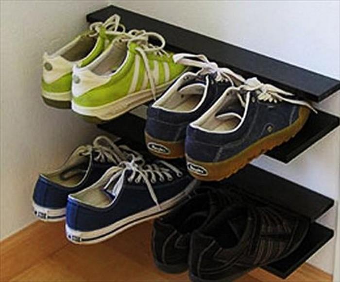 Wood Pallet Shoes Rack