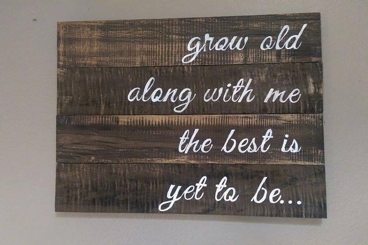 Wood Pallet Sign Board