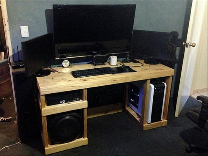 DIY Pallet Computer Desks | Recycled Things