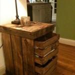 Wooden Pallet Nightstands
