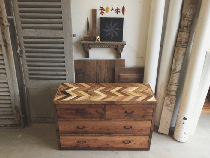 Wooden Pallet Nightstand