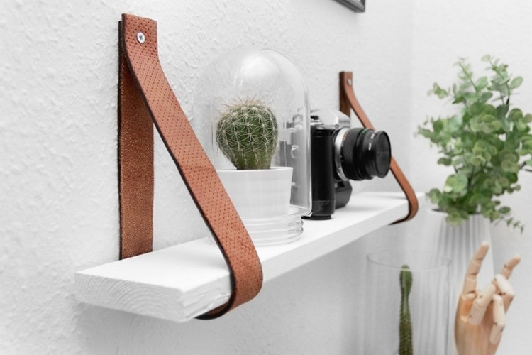 ... Idea Recycled Belt Shelf Belt Wall Shelf ...