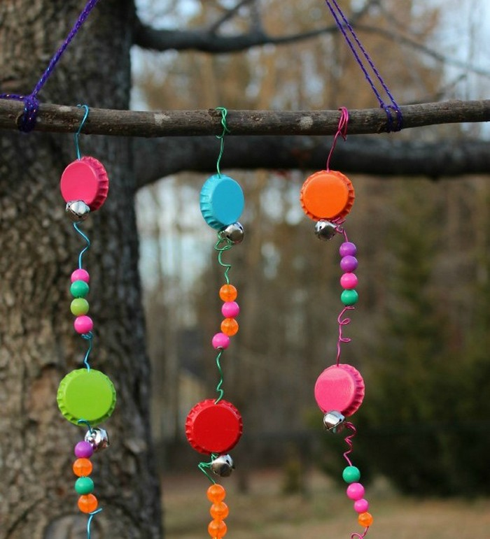 DIY Bottle Caps Wind Chimes