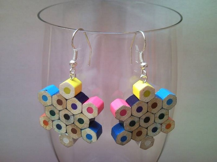 DIY Colored Pencil Earrings