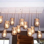 DIY Pallet Chandeliers with Mason Jars