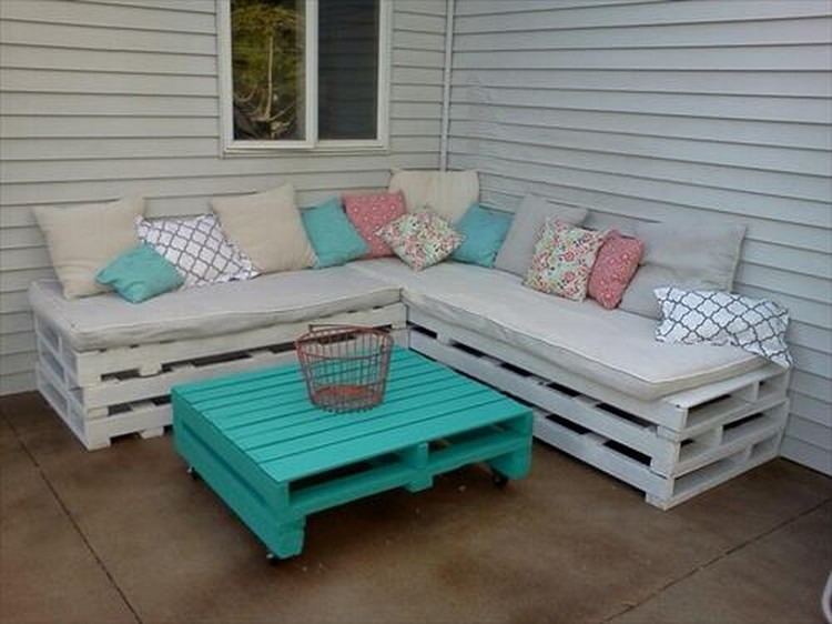 Wooden pallet outdoor furniture ideas recycled things Diy outdoor furniture